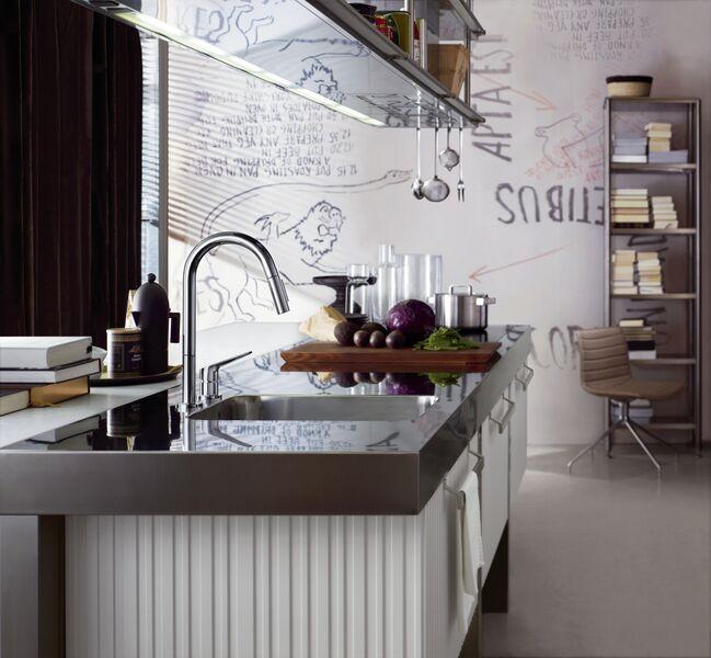 Bilde av moderne og nyoppusset kjøkken